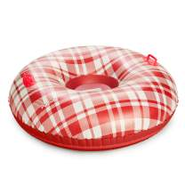 FUNBOY Giant Inflatable Retro Plaid Snow Tube, Winter Snow Sled, Perfect for Holiday Adventures, Tube-Plaid