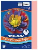 "Tru-Ray Heavyweight Construction Paper, Salmon, 9"" x 12"", 50 Sheets"
