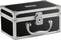 Vaultz Locking Mini Makeup Artist Case, Black (VZ03741)