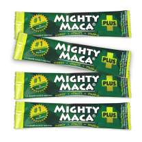 Mighty Maca Plus - 4 Day Trial Pack Delicious, All-Natural, Organic Maca Superfoods Greens Drink, Allergen & Gluten Free, Vegan, Powder