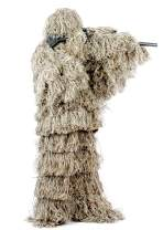 Auscamotek Ghillie Suit for Hunting Camouflage Suit Hunting Gilly Green and Dry Grass