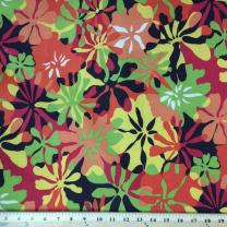 """Printed Canvas Fabric Waterproof Outdoor 60"""" Wide 600 Denier Sold by The Yard … (Orange Tropical)"""