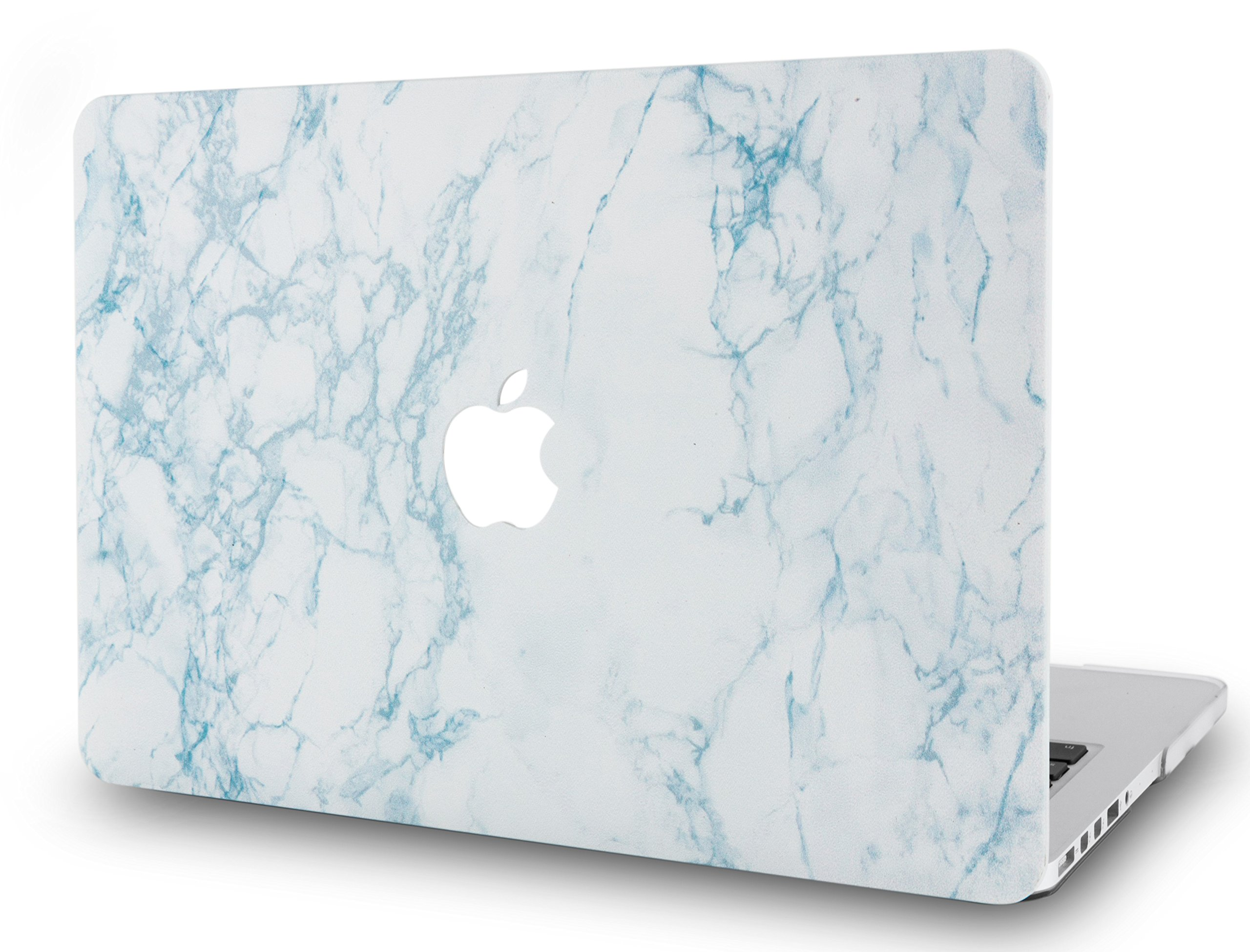LuvCase Laptop Case for MacBook Air 13 Inch A1466 / A1369 (No Touch ID) Rubberized Plastic Hard Shell Cover (White Marble 2)