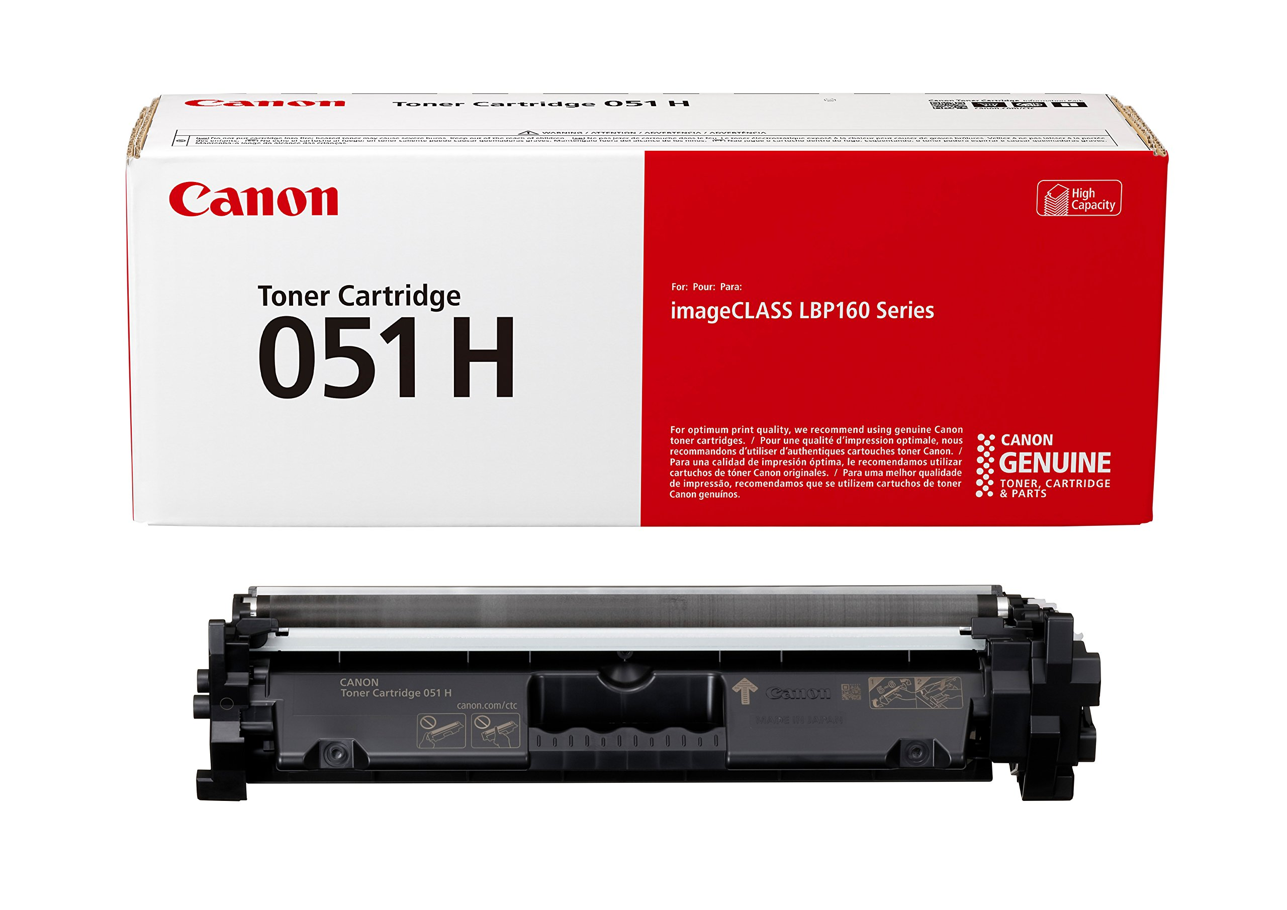 Canon Genuine Toner Cartridge 051 Black, High Capacity (2169C001), 1-Pack, for Canon imageCLASS MF264dw, MF267dw, MF269dw, LBP162dw Laser Printers