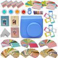 Xtech Fujifilm Instax Mini 9/8 Accessories kit Includes: Cobalt Blue Mini 9 Camera Case, 120 Mini Photo Sticker Frames, 3 Mini Photo Albums, 4 Mini 9/8 Colorful Filters + More