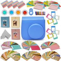 Xtech Fujifilm Instax Mini 9/8 Accessories kit Includes: Cobalt Blue Mini 9 Camera Case, 120 Mini Photo Sticker Frames, 3 Mini Photo Albums, 4 Mini 9/8 Colorful Filters + More