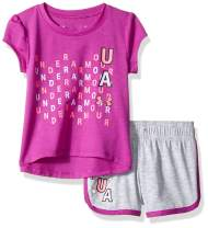 Under Armour Baby Girls' Lumos Tee and Shorts 2 Piece Set