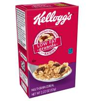 Kellogg's Breakfast Cereal, Low Fat Granola with Raisins, Low Fat, Good Source of Fiber, Single Serve, 2.2 oz Box(Pack of 70)