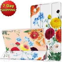 Soke New iPad 9.7 Case 2018/2017, iPad 6th/5th Generation Cases,Lightweight Smart Cover for Girls Women,Ultra Soft Shockproof Back Cover with Auto Sleep/Wake for iPad 9.7 5th/6th Gen Case(Peony)