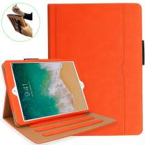 iPad 10.2 Case, iPad 7th Generation Case with Pencil Holder - Multi-Angle Stand, Hand Strap, Auto Sleep/Wake for iPad 7th Gen, iPad 10.2 2019(Orange)