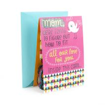 Hallmark Funny Pop Up Mothers Day Card for Mom from All (3D Bouquet) (0529MBC7595)