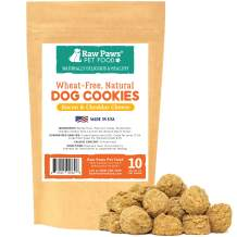 Raw Paws Healthy Dog Cookies Made in USA Only – Wheat, Corn & Soy Free Soft Dog Snacks – Natural, Oven-Baked Dog Treats