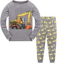 Little Hand Toddler Boys Pajamas Train 100% Cotton Fire Truck Pajama Boy Airplane 2 Piece Pjs Sets Clothes 1-7 T