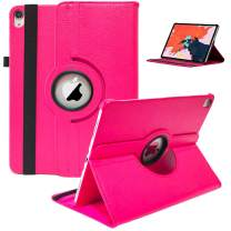 """2018 iPad Pro 11"""" Case, 360 Rotating Smart Cover PU Leather with Auto Sleep/Wake [Supports Apple Pencil Charging] Stand Case for New iPad Pro 11 inch 2018 Release (Rose)"""