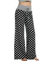 Hotouch Women Pajama Bottom Plus Comfy Lounge Pants Polka Dots Stretch Mix & Match Sleepwear S-XL