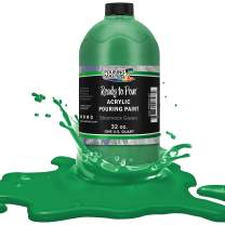 Pouring Masters Shamrock Green Acrylic Ready to Pour Pouring Paint – Premium 32-Ounce Pre-Mixed Water-Based - for Canvas, Wood, Paper, Crafts, Tile, Rocks and More