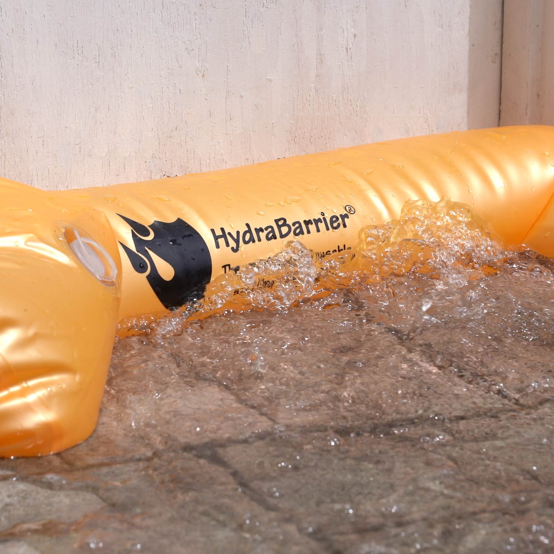 Best Sandbag Alternative - Hydrabarrier Standard 6 Foot Length 4 Inch Height. - Water Diversion Tubes That Are the Lightweight, Re-usable, and Eco-friendly (Single Unit)