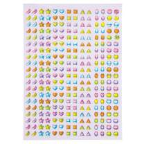 Baker Ross Pastel Crystal Stick-on Stones (Pack of 280) Embellishments for Kids Arts and Crafts