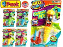 JA-RU Gyro Shaking Pen (Pack of 4 Pens) and 1 Bouncy Ball Bundle Vibrating Fun. Assorted Styles  Item #1316-4p