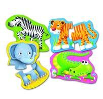 The Learning Journey My First Shaped Puzzle – Safari Friends – Fun Shaped Toddler Puzzles & Gifts for Boys & Girls Ages 2 and Up