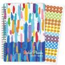 "2020-2021 Student Planner - Academic Planner 2020-2021, Weekly & Monthly Student Planner, 6.4"" x 8.5"", Jul 2020 - Jun 2021, Flexible Cover, Bonus Ruler/Bookmarker and Planning Stickers, Inner Pocket"