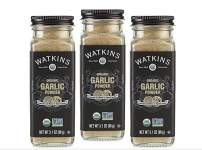 Watkins Gourmet Organic Spice Jar, Garlic Powder, 3.1 Ounce Jar, 3 Count