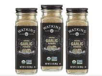 Watkins Gourmet Organic Spice Jar, Garlic Powder, 3.1 Ounce Jar, 3 Count