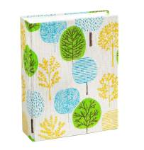 Edian Small Photo Album Baby Journal Album 4x6 Inches with Baby Belly Stickers (Foliage, Cloth Cover)