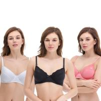 Curve Muse Plus Size Nursing Underwire Bra with Drop-Down Cups (Pack of 2 or 3)