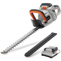 """VonHaus 40V Max 20"""" Dual Action Cordless Hedge Trimmer with 2.0Ah Lithium-Ion Battery and Charger Kit Included"""
