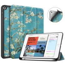 Fintie Case with Pencil Holder for iPad Mini 5 2019 - [SlimShell] Lightweight Soft TPU Back Protective Smart Stand Cover with Auto Wake/Sleep for New iPad Mini 5th Gen 2019, Blossom