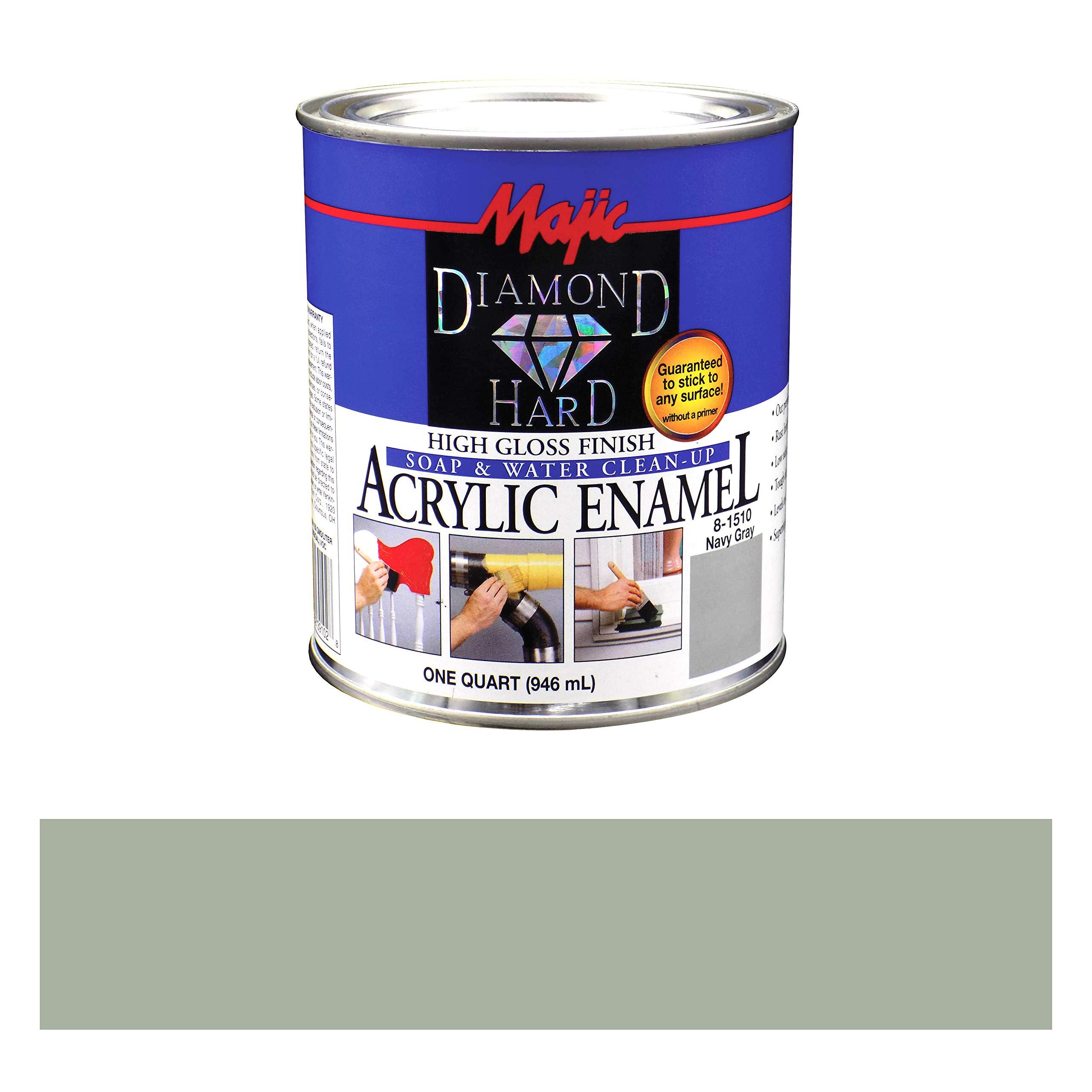 Majic Paints 8-1510-2 Diamond Hard Acrylic Enamel High Gloss Paint, 1- Quart, Navy Gray
