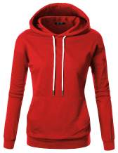 GIVON Womens Comfortable Long Sleeve Lightweight Pullover Hoodie with Kanga Pocket (XS~4XL)