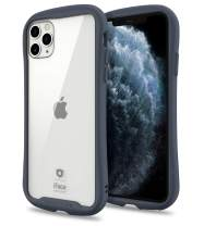 iFace Reflection Series iPhone 11 Pro Max Clear Case – Cute Dual Layer [TPU + 9H Tempered Glass] Hybrid Shockproof Protective Cover for Women [Drop Tested] [Wireless Charging Compatible] - Navy