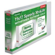 Cardinal 11-Inch x 17-Inch Speedy XtraLife Non-Stick Locking Slant-D Ring Binder, 2-Inch White (56220)