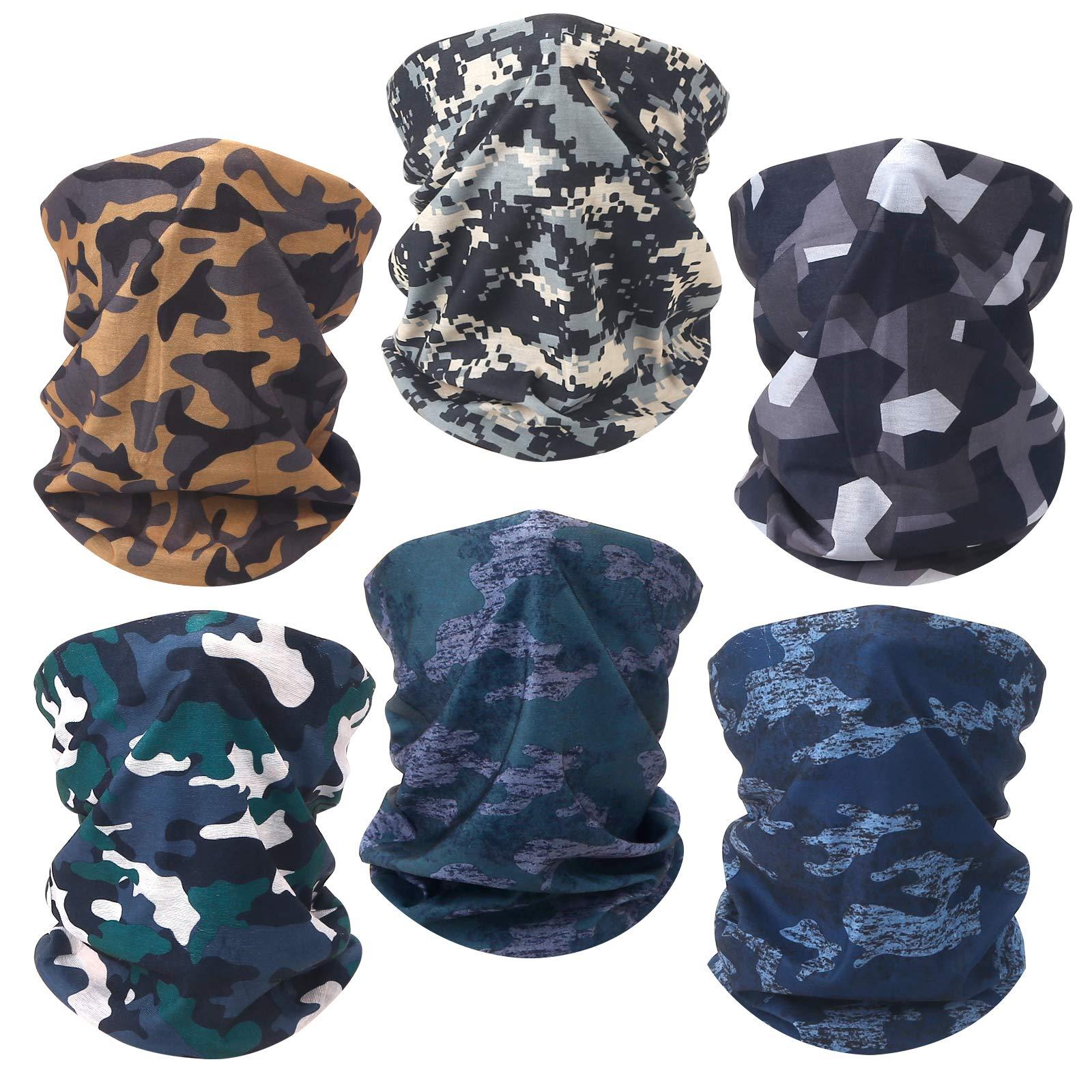 6 Pack Neck Gaiter Face Mask Reusable Bandana Gaiter Mask for Women Gator Mask