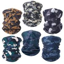 6 Pack Neck Gaiter Face Mask Reusable Bandana Gaiter Mask for Women Gator Mask