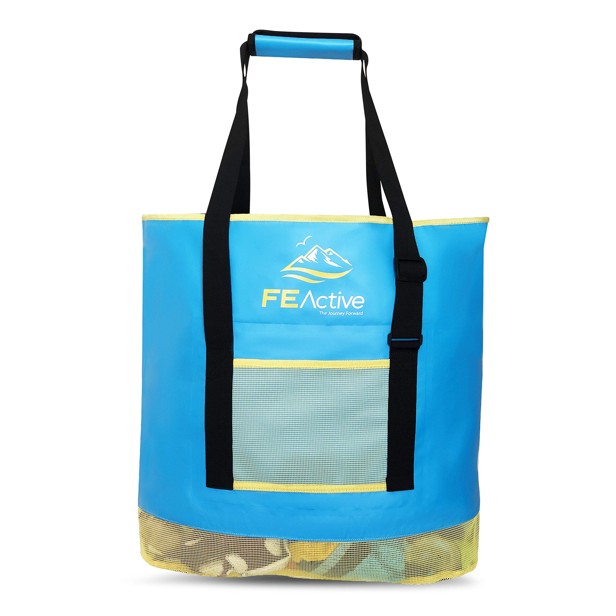 FE Active - 50 Liter Sand Free Bag Built With High-End Water Resistant Material and Designed As Oversize Sand-Free Tote Bag For The Beach and Camping   Designed in California, USA