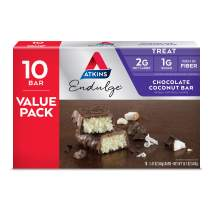 Atkins Endulge Treat, Chocolate Coconut Bar, Keto Friendly, 10 Count (Value Pack)