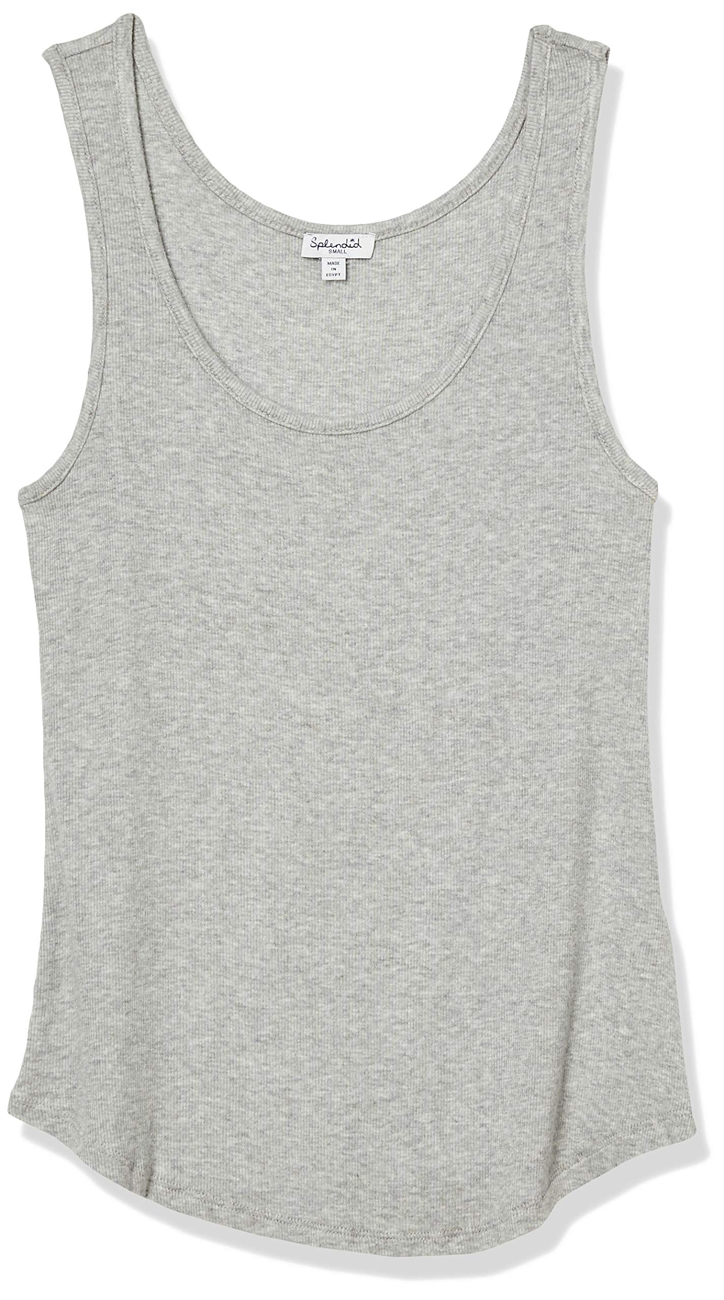 Splendid Women's 2x1 Rib Sleeveless Scoop Tank Top