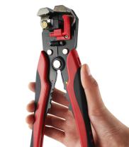 Knoweasy Self-Adjusting Wire Stripper, 8-Inch Wire Stripping Tool Automatic Electric Cable Stripper Cutter Crimper, Professional Multi-Purpose Terminal Tool Pliers for 10-24 AWG Stranded Wire Cutting