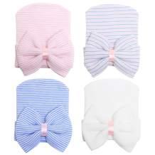 Zando Newborn Hospital Hat Toddler Beanie Baby Boy Girl Knot Headbands with Big Bows Infant Baby Nursery Caps