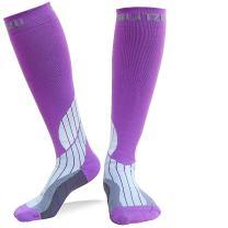 BLITZU Compression Socks 20-30mmHg for Men Women Running Travel Nurses Recovery