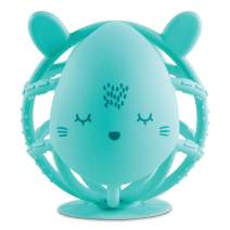 Tiny Twinkle Silicone Teether Toy - Mint Bunny - BPA Free Multi Textured, Suction Base teether Ball for Baby, Infants, Toddlers - Soothes Gums, Easy to Grasp, Safe to chew for Newborn +