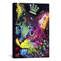 "iCanvasART Thinking Cat Crowned by Dean Russo Canvas Print #4211 – 40""x26"" (.75"" deep)"