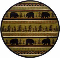 """Oriental Weavers Hudson 7'8"""" Round Machine Woven Rug in Black"""