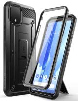 SupCase Unicorn Beetle Pro Series Case for Google Pixel 4 XL (2019 Release), Full-Body Rugged Holster Case with Built-in Screen Protector (Black)