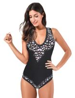 Meilun Women Beaded Bandage Monokini Bodysuit Summer Swimwear Bathsuit