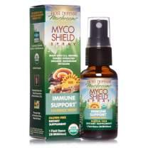 Host Defense, MycoShield Licorice Root Spray, Immune Support, Mushroom Supplement with Turkey Tail, Reishi and Chaga, Vegan, Organic, 1 oz (71 Servings)