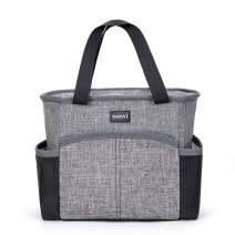 TINYAT Lunch Bag Waterproof Insulated Lunch Bag for Women&Men Tote Bag Cooler for School, Work,Grey